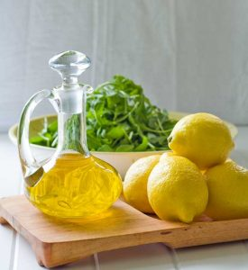 olive oil and lemons